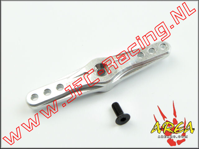 AR-022-D-SILVER, Alloy Servo Arm Double (15T)(<FONT COLOR=808080>Silver</FONT>)(Area Rc) 1st.