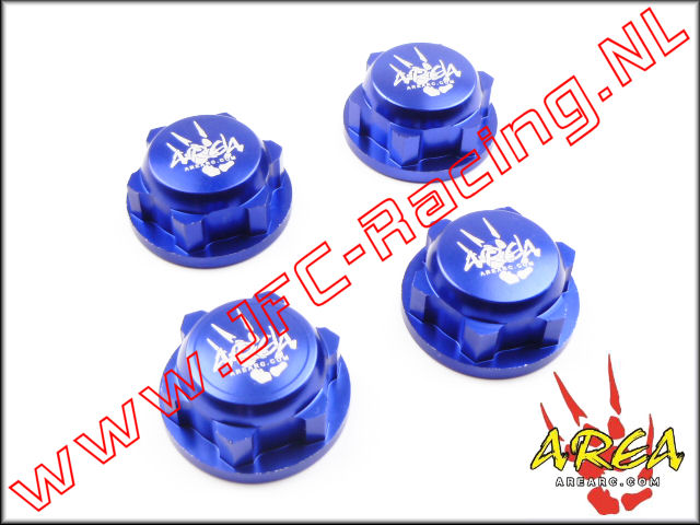 AR-L030-BLUE, Wheel nuts (Losi 5ive-T & Losi DBXL)(<FONT COLOR=0000ff>Blue</FONT>)(Area Rc) 4st.