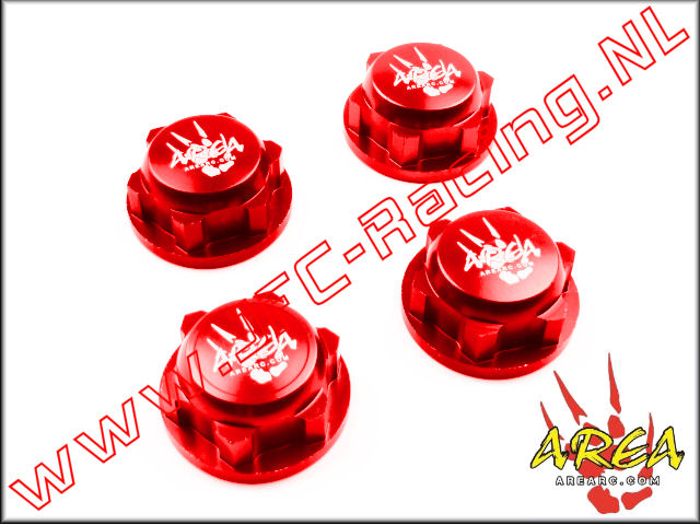 AR-L030-RED, Wheel nuts (Losi 5ive-T & Losi DBXL)(<FONT COLOR=ff0000>Red</FONT>)(Area Rc) 4st.