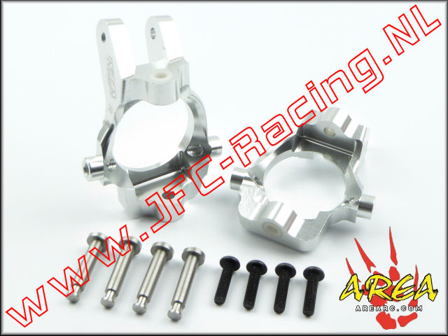 AR-L032-SILVER, Front Hub Carrier (Losi 5ive-T & Mini WRC)(<FONT COLOR=808080>Silver</FONT>)(Area Rc) 2st.