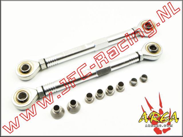 AR-L036-SILVER, Aluminum Pull Rod Front (Losi 5ive-T / Losi 5ive-B / Mini WRC)(<FONT COLOR=808080>Silver</FONT>)(Area Rc) 1st.