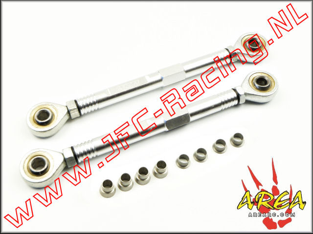 AR-L038-SILVER, Aluminum Pull Rod Steering (Losi 5ive-T / Losi 5ive-B / Mini WRC)(<FONT COLOR=808080>Silver</FONT>)(Area Rc) 1st.