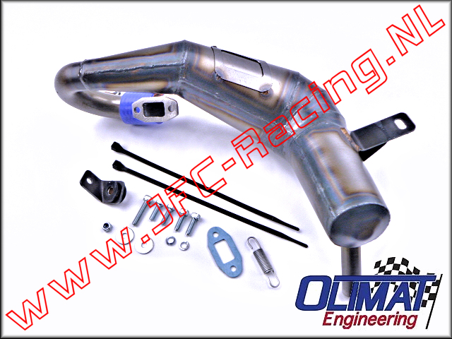 DBXL-SIL, OliMat High Performance Exhaust Pipes (Silenced)(Losi DBXL) 1pcs.