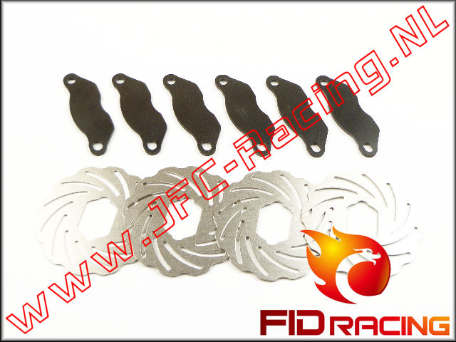 FID 0001, FID Racing DubbeleRemschijven (LOSI 5ive / Mini)(RVS / Epoxie) Set.
