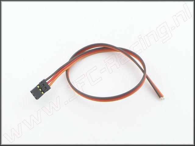 GF-1101-001, Servo kabel 0,3mm² GOLD JR/Graupner/Hitec 300mm 1st.