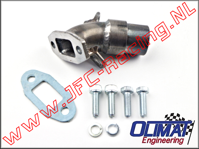 HEADER-01, OliMat High Performance Exhaust Header (Losi 5ive-T 1.0 / 2.0) 1pcs.