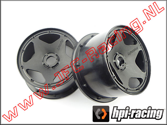 HPI 3226, Super Star Wheel Black (120 x 75mm)(Rear) 2pcs.