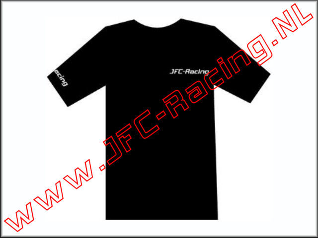 JFC 0080-XL, T-shirt Met JFC-Racing Logo (Black / White (Maat XL) 1st.