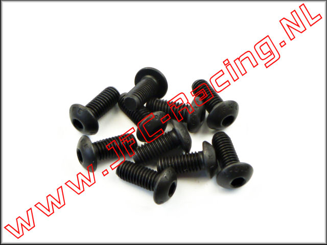 JFC 6735/12, Pan-head cap screw (Hex)(M5 x 10) 10pcs.
