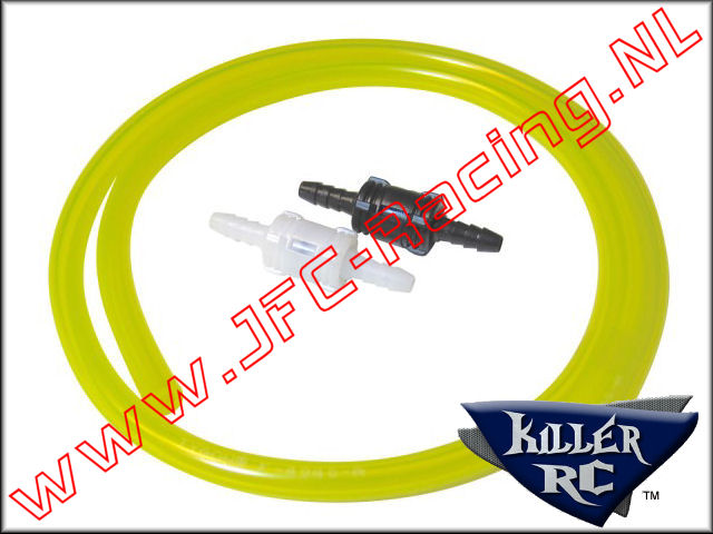 KIL 0560, Fuel Tubing & Disconnect Kit (White/Black)(Yellow)(Killer RC) 1st.