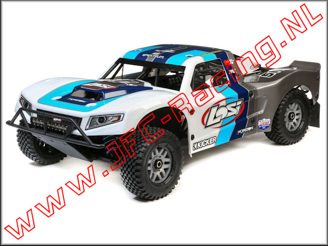 LOS 05014T1, Losi 5IVE-T 2.0 Short Course Truck (1/5)(4WD)(Grey / Blue / White) 1pcs.