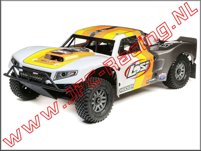 LOS 05014T2, Losi 5IVE-T 2.0 Short Course Truck (1/5)(4WD)(Grey / Orange / White) 1pcs.