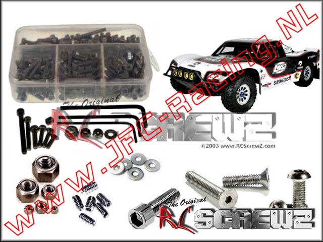 LOS 065, Losi 5ive-T 1/5th 4wd Stainless Screw Kit (RC Screwz) 1st.