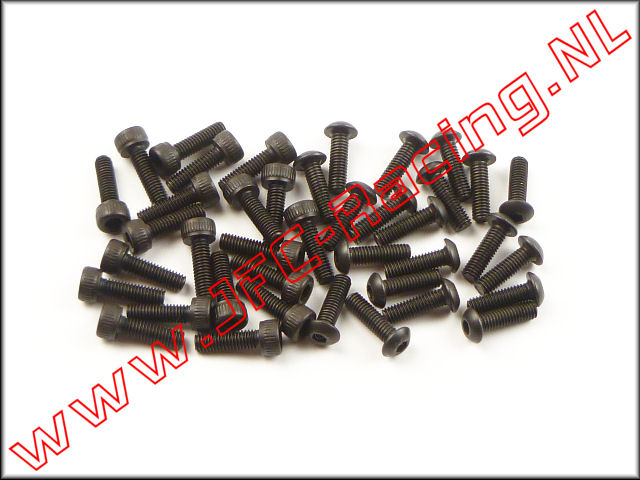 LOSB 6450, Beadlock Inbus Schroeven Set (M3 x 10mm)(Inner & Outer)(Losi) 40st.