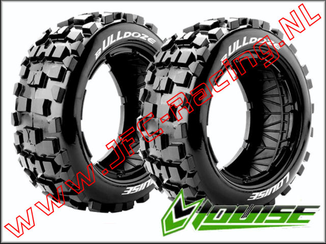 LR-T 32681, Louise RC B-ULLDOZE 1-5 Buggy Tires (Sport)(Front(170 x 60mm) 2st.