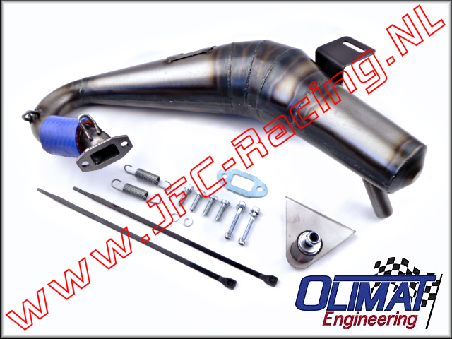 MTXL-SIL, OliMat High Performance Exhaust Pipes (Silenced)(Losi MTXL) 1pcs.
