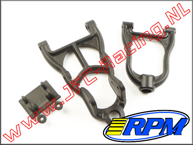 RPM 82142, Front Upper & Lower A-arms (Black)(HPI Baja 5B, 5T & 5SC) 1st.