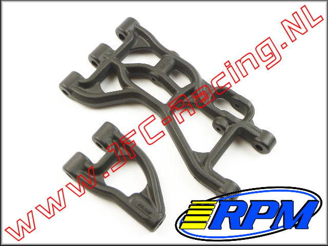 RPM 82252, Rear Upper & Lower A-arms (Black)(HPI Baja 5B, 5T & 5SC) 1st.
