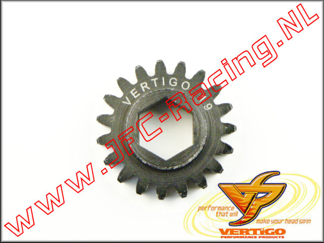 VTG 101119, Vertigo 19T Steel Pinion gear (12mm Hex Drive Clutch Bell) 1st.
