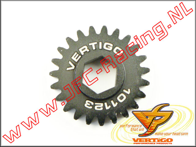 VTG 101123, Vertigo 23T Steel Pinion gear (12mm Hex Drive Clutch Bell) 1st.