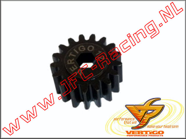 VTG 61117, Vertigo 17T Steel pinion gear (7mm hex drive)(HPI Baja) 1st.